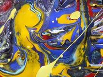 Kleurrijk abstract het schilderen canvas voor huisontwerp Royalty-vrije Stock Foto's