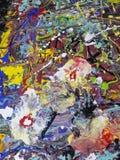 Kleurrijk abstract het schilderen canvas voor huisontwerp Stock Afbeeldingen