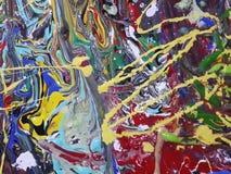 Kleurrijk abstract het schilderen canvas voor huisontwerp Royalty-vrije Stock Afbeelding