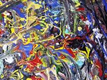 Kleurrijk abstract het schilderen canvas voor huisontwerp Royalty-vrije Stock Afbeeldingen
