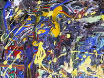 Kleurrijk abstract het schilderen canvas voor huisontwerp Stock Foto