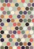 Kleurrijk abstract hexagon ontwerp als achtergrond; decoratieart. Stock Foto's