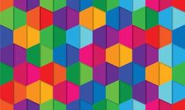 Kleurrijk Abstract Hexagon patroon Als achtergrond Stock Afbeeldingen