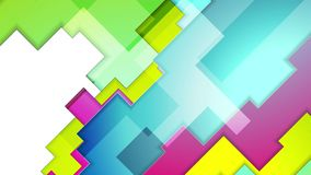 Kleurrijk abstract meetkunde achtergrondmotieontwerp stock footage
