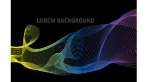 Kleurrijk abstract mengsel met zwarte achtergrond royalty-vrije illustratie
