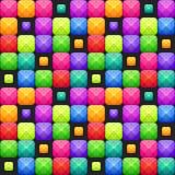 Kleurrijk abstract mozaïek naadloos patroon Vector textuur stock illustratie