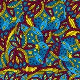 Kleurrijk abstract patroon van geschilderde bladeren Stock Fotografie