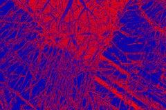 Kleurrijk, abstract patroon van mineraal in een het polariseren micrograaf Stock Foto