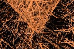 Kleurrijk, abstract patroon van mineraal in een het polariseren micrograaf Royalty-vrije Stock Foto
