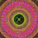 Kleurrijk Abstract Psychedelisch Art Background Stock Foto