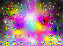 Kleurrijk Abstract Psychedelisch Art Background Vector Illustratio Stock Afbeelding
