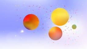Kleurrijk abstract ruimte kleurrijk beeld als achtergrond stock illustratie