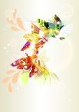 Kleurrijk abstract vector glanzend achtergrond of frame Stock Afbeelding