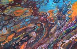 Kleurrijk acrylart. Stock Foto