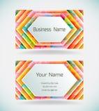 Kleurrijk adreskaartje Stock Fotografie