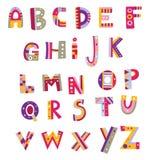 Kleurrijk Alfabet Royalty-vrije Stock Foto's