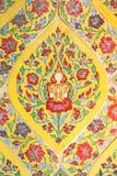 Kleurrijk antiek kunstwerk, Thailand Stock Foto's