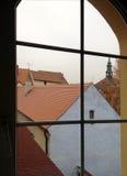 Kleurrijk antiek venster Stock Fotografie