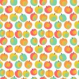 Kleurrijk appelpatroon royalty-vrije illustratie
