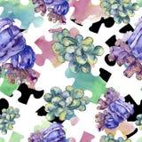 Kleurrijk aquatisch onderwateraardkoraalrif Naadloos patroon als achtergrond vector illustratie