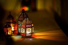 Kleurrijk Arabisch Ramadan Lantern royalty-vrije stock afbeelding