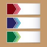 Kleurrijk arrownetiket voor het creatieve werk Stock Fotografie