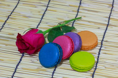 Kleurrijk assortiment van theekoekjes Stock Foto's