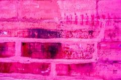 Kleurrijk bakstenen muurpatroon, geschilderde bakstenen als stedelijke textuur Royalty-vrije Stock Afbeeldingen