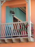 Kleurrijk balkon Stock Afbeeldingen