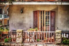 Kleurrijk balkon in hdr royalty-vrije stock afbeelding