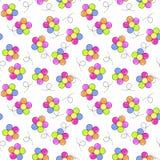 Kleurrijk ballen bloemen naadloos patroon vector illustratie