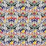 Kleurrijk barok naadloos patroon vector illustratie