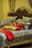 Kleurrijk Bed Stock Afbeeldingen