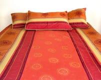 Kleurrijk bed stock afbeelding
