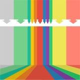 Kleurrijk bedrijfsmalplaatje Royalty-vrije Stock Afbeeldingen
