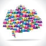 Kleurrijk bedrijfsmensen communicatie concept royalty-vrije illustratie