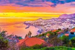 Kleurrijk beeld van Funchal, Madera royalty-vrije stock afbeeldingen