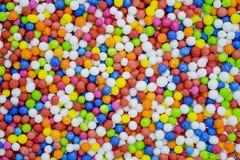 Kleurrijk bestrooit, koevoeten voor cakedecoratie Stock Foto's