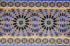 Kleurrijk betegeld van het vierkant van Spanje in Mendoza royalty-vrije stock afbeelding