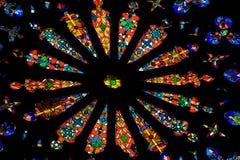 Kleurrijk bevlekt venster royalty-vrije stock foto