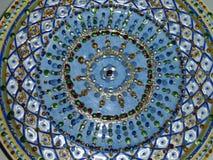 Kleurrijk blauw en gouden patroon Stock Afbeeldingen
