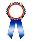 Kleurrijk Blauw Lint met het Gebied van de Tekst Royalty-vrije Stock Afbeelding