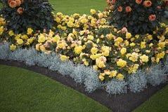 Kleurrijk bloembed in Kew stock foto's