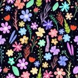 Kleurrijk bloemen naadloos patroon Royalty-vrije Stock Afbeelding