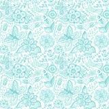 Kleurrijk bloemen naadloos patroon in beeldverhaalstijl. Naadloze patt vector illustratie
