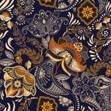 Kleurrijk bloemen naadloos patroon Het ornament van Paisley Decoratieve bloemen Ontwerp voor stoffen, kaarten, Web, decoupage royalty-vrije illustratie
