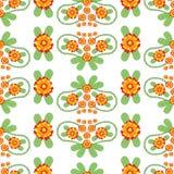 Kleurrijk Bloemen Volks Vector Naadloos Patroon royalty-vrije illustratie
