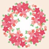 Kleurrijk bloemenframe vector illustratie