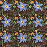 Kleurrijk Bloemenkrabbelspatroon Stock Afbeeldingen