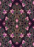 Kleurrijk bloemenornament Royalty-vrije Stock Fotografie
